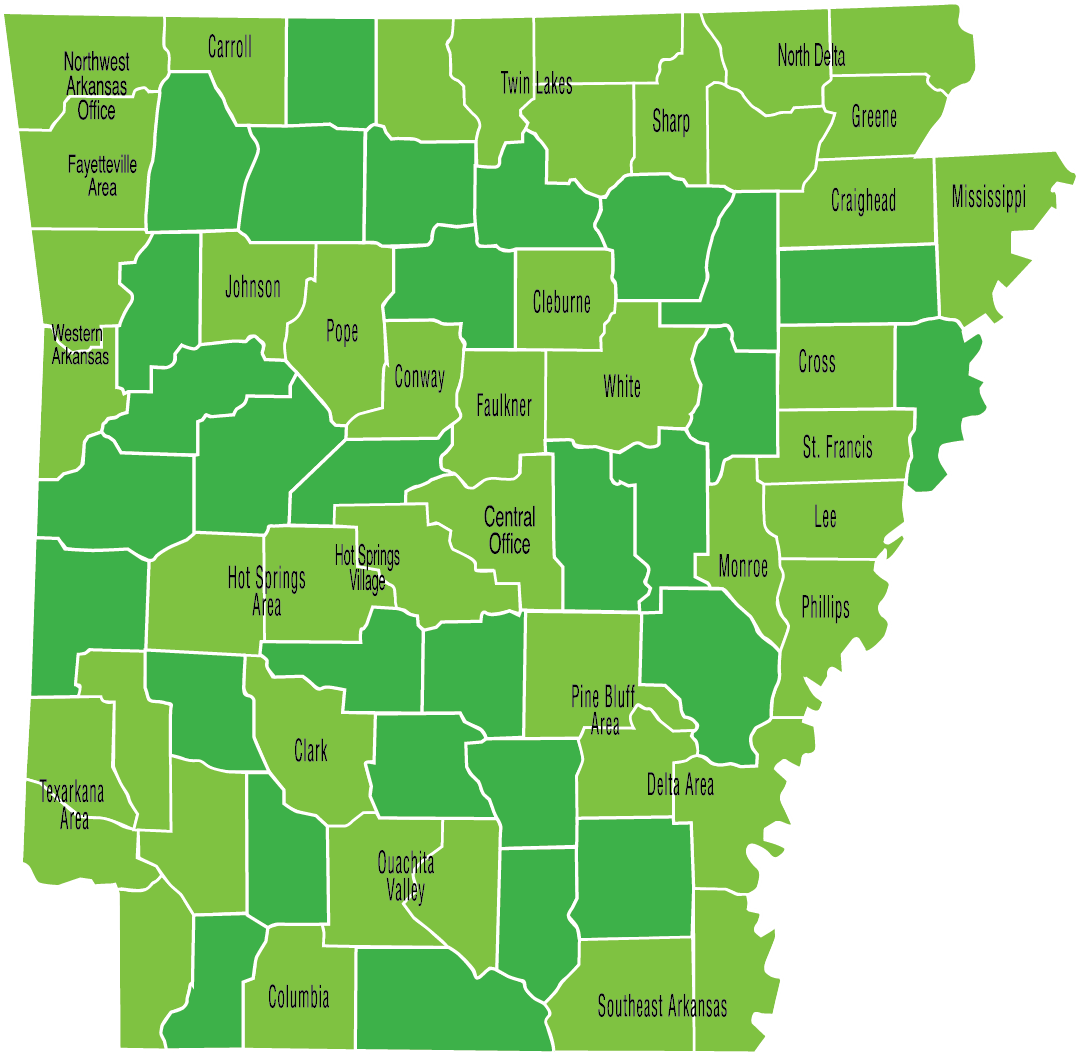 Map of all affiliate locations